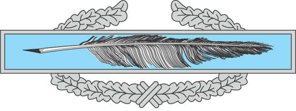 combat writing badge