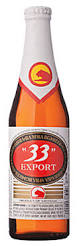 bottle of imported 33 beer