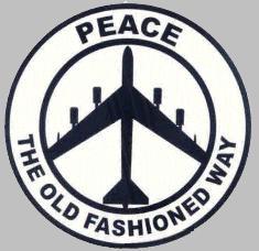 B-52 bomber novelty peace sign