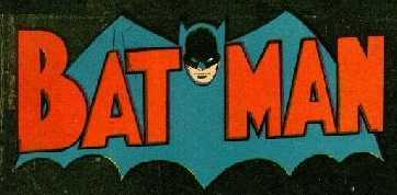 nameplate banner for Bat Man comics