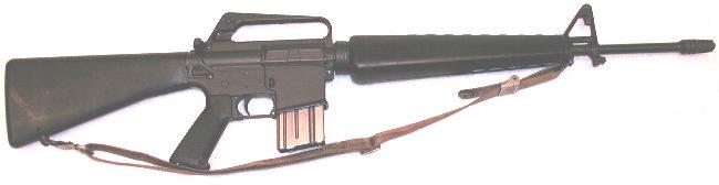 Vietnam-era M-16A1 assault rifle