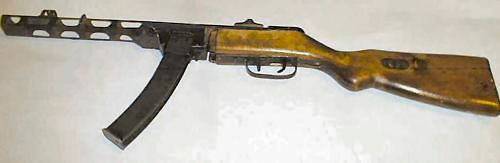 Russian PPSh 1941 submachinegun with box magazine